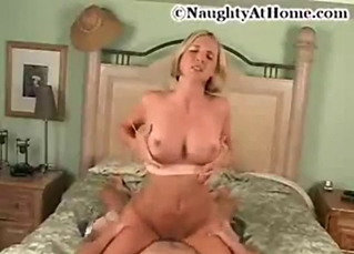 Busty goddess is enjoying dick-riding